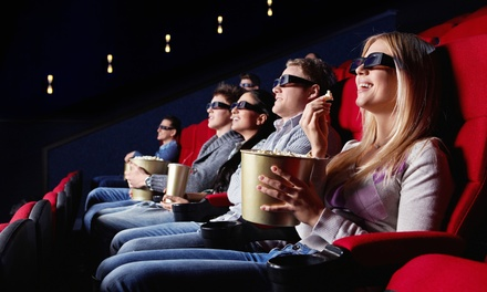 Movie and Popcorn for Two or Four Adults or Two Adults and Two Kids at Apple Cinemas (Up to 47% Off)