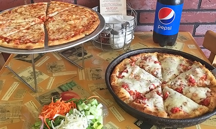 $19 for Family Pizza Meal for Takeout or Dine-In at Numero Uno Pizza ($28.89 Value)