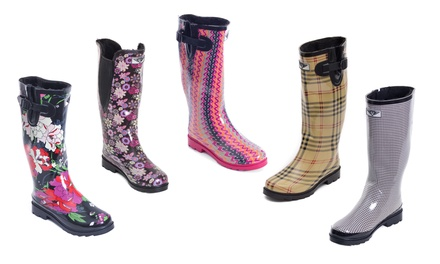 Forever Young Women's Faux-Fur Lined Rain Boots