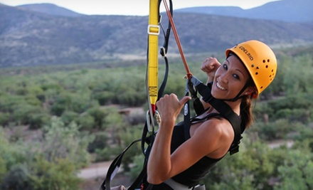 Safari Zipline Tour for Two with Two Photos at Predator Zip Line (Up to 44% Off). Two Options Available