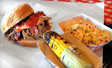 $10 for $20 Worth of Barbecue Food or Catering Packages for 20 or 40 People at Mr. K's Barbeque