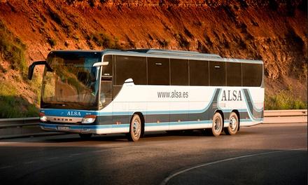 Alsa — Portugal e Espanha: vale de desconto de 50% numa viagem de ida e volta de autocarro para destino à escolha por 4€
