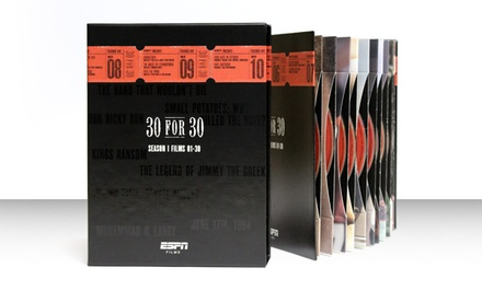 ESPN 30 for 30 Season 1: Films 1–30 on DVD. Free Returns.