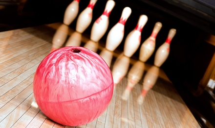 $20 for Bowling with Shoes and Pizza for Up to Four at Pacific Lanes Bowling Center ($48.50 Value)