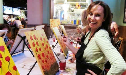 Two-Hour Painting Class for One or Two at Canvas, Corks & Forks (Up to 50% Off)