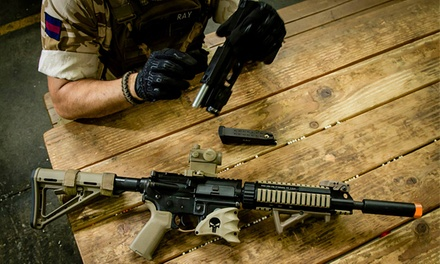 All-Day Airsoft Package with Gear Rental and Unlimited Ammo for 2 or 4 at Tac City Airsoft (Up to 64% Off)