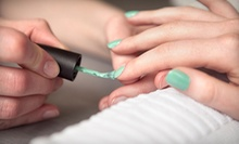 One or Two Regular or Shellac Mani-Pedis at Lotus Jade Nail Bar (Up to 54% Off)