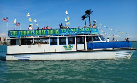 Caladesi and Honeymoon Island Boat Tour with a Drink for One Adult or Child from The Tropics Boat Tours (Up to 60% Off)