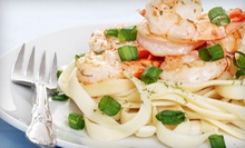 $15 for $30 Worth of Pasta, Seafood, and Steaks for Dinner at The Garden Grill