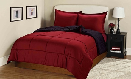 Reversible Down-Alternative Comforter Set with Shams