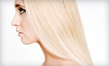 Haircut Package with Conditioning and Optional Color or Partial or Full Highlights at John Peri Salon (Up to 71% Off)