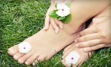 One or Two Mani-Pedis with Paraffin Dip and Hot-Stone Foot Treatment at Willow Salon Spa and Shoppe (Up to 57% Off)
