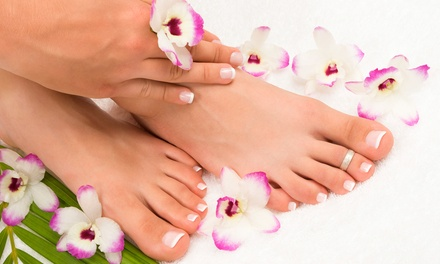 Mani-Pedi, Pedicure, or Gel Manicure and Regular Pedicure at Signature Nails (Up to 57% Off)