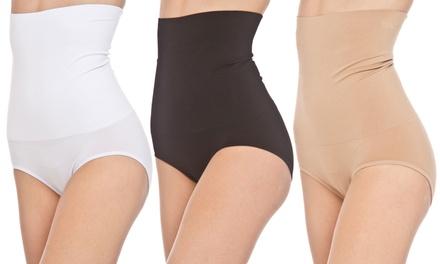 3-Pack of Seamless Shaping High-Waisted Bikini