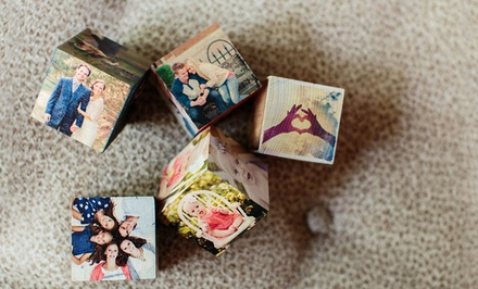 Custom Wooden PhotoBlocks from PhotoBarn (Up to 75% Off)