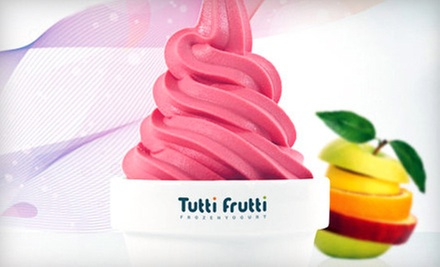 5 or 10 8-Ounce Frozen Yogurts with Toppings at Tutti Frutti Davis (Up to 58% Off)