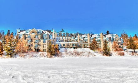 groupon daily deal - 1-Night Stay for Two with Breakfast and Lift Tickets at Hôtel Le Chantecler in Sainte Adèle, QC