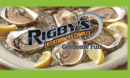 Up to 47% Off Restaurant Package at Rigby's Entertainment Complex - Oyster Bar