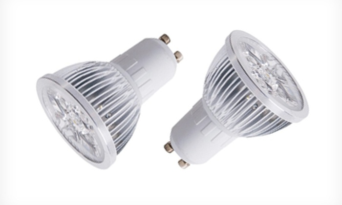 Groupon Goods Global GmbH: Sunsolar White LED GU10 Spotlight Bulbs from £4.79 With Free Delivery (Up to 61% Off)