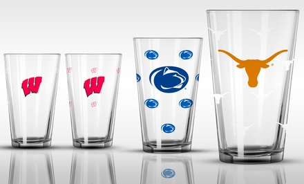 2-Pack of NCAA Color-Changing 16oz. Pint Glasses. Multiple Teams Available. Free Returns.