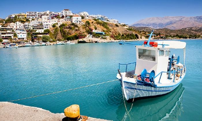 Groupon Travel - Crete: Crète 4* : 7 nuits en demi-pension à l'hôtel Sissi Bay 4* avec vols A/R depuis Zaventem, dès 399 € par personne*