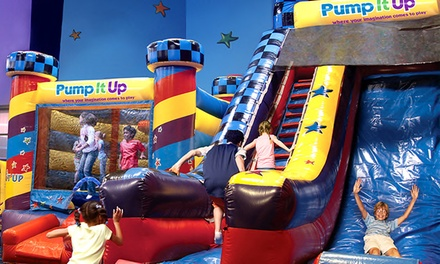 Three Pop-In Play or Family Fun Night Bounce-House Admissions at Pump It Up (52% Off)
