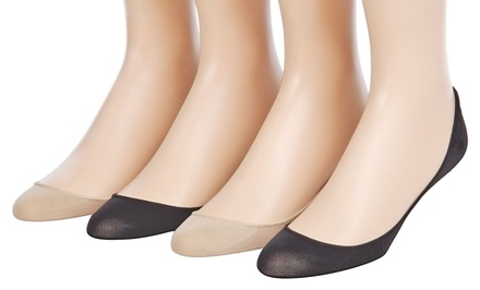 Lovovo Women's Cushioned No-Show Socks (4-Pack)
