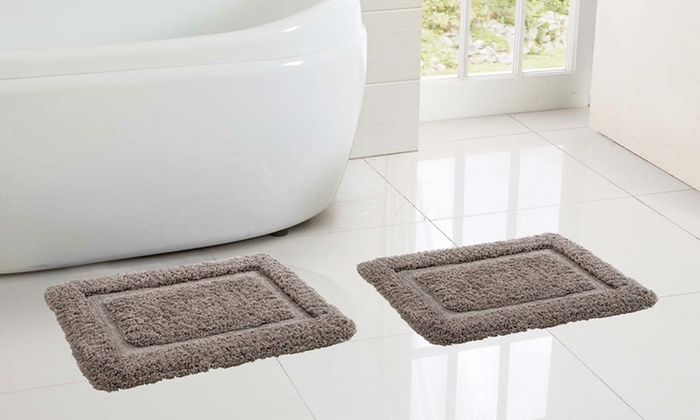 Set Of Ultimate Plush High Pile Memory Foam Bath Rugs