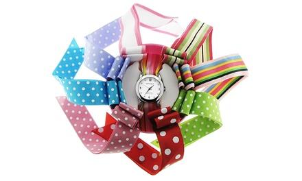 Relógio Ribbons Watch com Swarovski Elements por 14,99€ ou dois por 21,99€