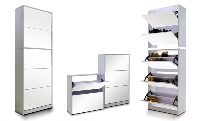 Groupon Goods: Five-Level Stackable Mirrored Shoe Cabinet for R1999 Including Delivery (Up to 50% Off)