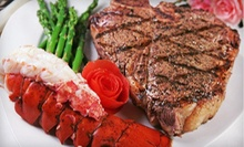 Surf 'n' Turf Dinner with Wine for Two or Four at Portofino Restaurant (Up to 67% Off)