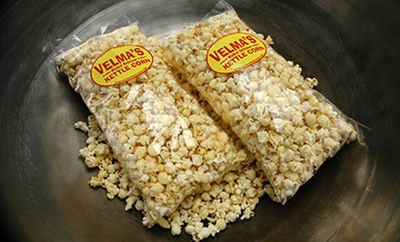 Two or Four 18-Inch Bags of Popcorn at Velma&#x27;s Wicked Delicious Kettle Corn (Half Off)
