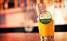 $25 for Two Beers, Two Souvenir Pint Glasses, and a 1-Gallon Growler at Green Room Brewing ($50 Value)