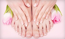 $25 for a Spa Manicure and Spa Pedicure with Masks and Paraffin Dips with Lynn Vermont at The Loft($65 Value)