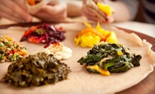 Vegetarian Meal for Two or Meat and Vegetarian Ethiopian Meal for Two or Four at Queen Sheba (Up to 52% Off)