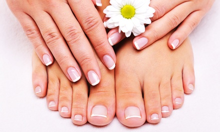 Pedicure with Optional Full Set of Acrylic Nails at Diamond Nail (Up to 48% Off)