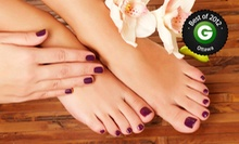 Two Gel or Shellac Manicures or Two Regular Mani-Pedis at Above &amp; Beyond Medi, Wellness, and Beauty Spa (Up to 55% Off)
