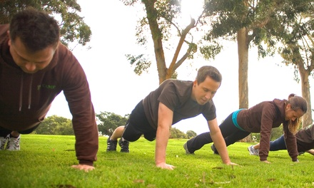 Boot-Camp Program from Mission Fit Camp at Mission Hills Pioneer Park (Up to 77% Off). Four Options Available.