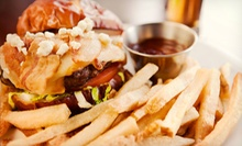 Two or Four Burgers, Sandwiches, or Wraps with Beer at Black Bear Saloon (Up to 53% Off)