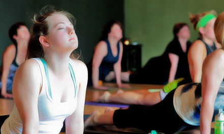 $49 for One Month of Unlimited Heated Yoga Classes for New Students at Yoga Flow ($99 Value)
