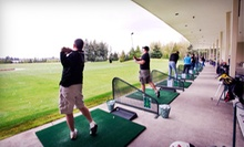 Optional Driving-Range Balls with Mini Golf and Soft Drinks for Two at Tualatin Island Greens (Up to 53% Off)