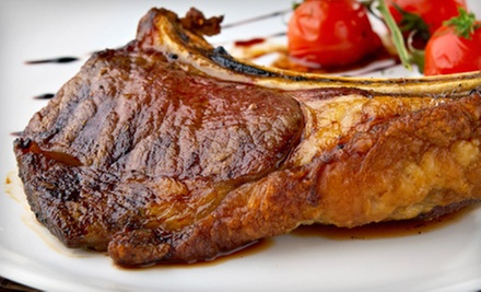 Classic Steakhouse Fare and Drinks at Cafe La Maze (Half Off). Two Options Available.