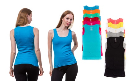 12-Pack of Women's Ribbed Cotton Muscle Tank Tops