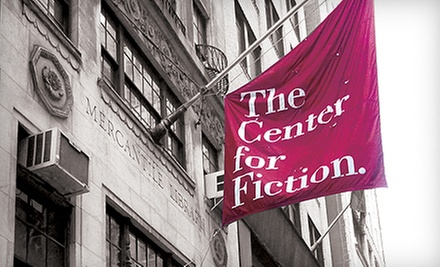 One-Year Membership and 10% Off Workshops for One or Two at The Center for Fiction (Up to 77% Off)
