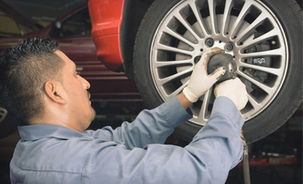 Brake Pads with Installation and Optional Tire Rotation at River City Brakes (Up to 70% Off)