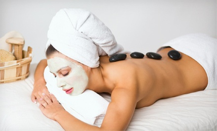 Facial with Warm-Stone Massage or 30-, 45-, or 60-Minute Warm-Stone Massage at Devine Esthetics (Up to 54% Off)