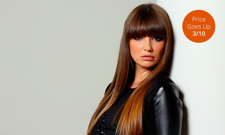 Cut, Style, and Condition with Optional Full Color or Partial Highlights at The New Hair Image (Up to 61% Off)