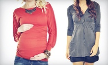 Designer Maternity Clothes and Accessories at Pickles & Ice Cream Maternity Apparel (Half Off). Two Options Available.