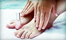 Spa Pedicure with Exfoliating Skincare Treatment or OPI Gel Manicure at Street Side Salon (Up to 53% Off)