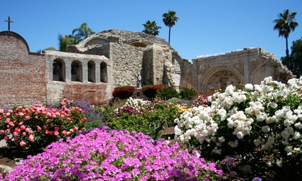Visit for Two or Four Adults to Mission San Juan Capistrano (50% Off)